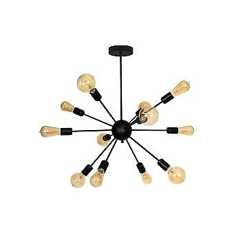 Maisie 12-light Ceiling Lamp Black