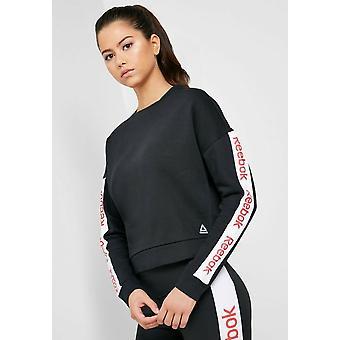 Reebok Women's Linear Logo Crew Sweatshirt Fashion Top EK1353