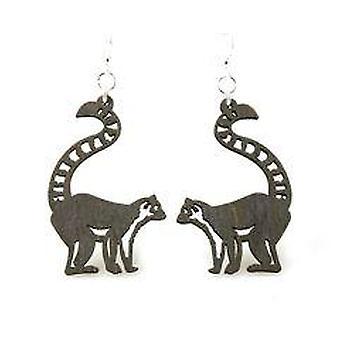 Ring-tailed Lemur Earrings