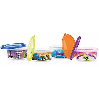 Nuby 4 Set of hermetic containers - 300 ml - 3m +