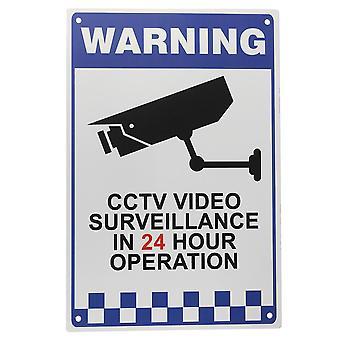 CCTV אזהרה סימן מדבקה אבטחה וידאו מעקב מצלמה בטיחות סימן מתכת רפלאקטיבית