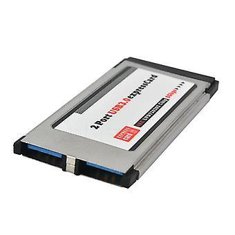 Scheda pci-e da Pci Express a Usb 3.0 Dual 2 porte pci-e card per chipset Nec 34 mm