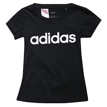 Girl's adidas Infant Linear T-Shirt in schwarz