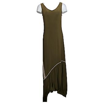 Attitudes by Renee Dress Como Jersey Maxi W/ Ruffle Hem A301372