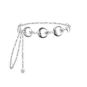 Punk Moon Metal Belts Kobiety Vintage High Waist Chain / Pasy Gothic Moon Sun