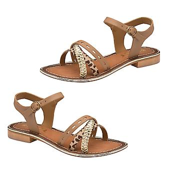 Ravel Cudal Leather Flat Sandals  - Birch
