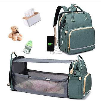Mommy Diaper Bag, Newborn Baby Bed Backpack, Crib Bassinet, Travel Convenience