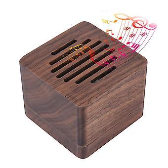 Caja de música de madera minimalismo cube melodía, kimiwo nariz