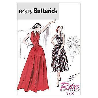 Butterick ompelu kuviot 4919 Misses Vintage 1952 Mekko Koko 6-12 Leikkaamaton