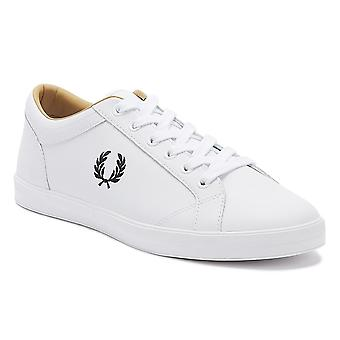 Fred Perry Baseline Mens White Leather Trainers