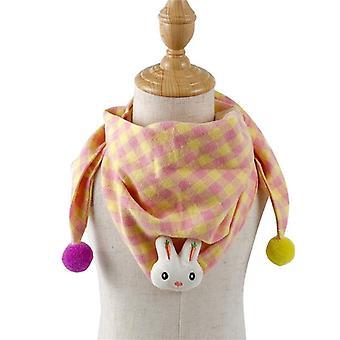 Girls Towel Scarf, Flower Print Cotton Shawls, Spring Neck Collar