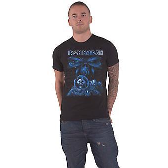 Iron Maiden T Shirt Final Frontier Blue Album Spaceman Band Logo Officiell Mens