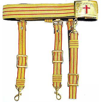 Ritarit temppeliherra ohi komentaja punainen & kultainen miekkavyö