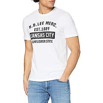 Lee Kansas City Tee T-Shirt, Vit, S Man