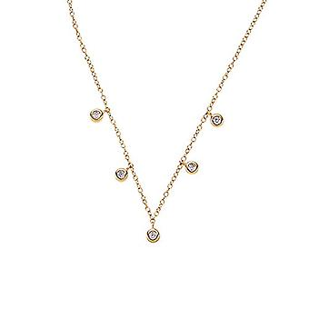 NOELANI - Necklace with women's pendant, in silver 925 gold plated with zircons, adjustable length(2)