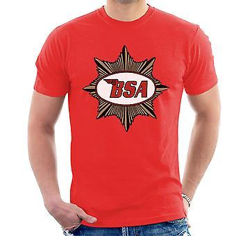 BSA Red Logo Gold Badge Men's T-Shirt