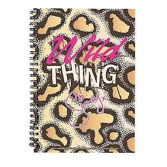 Sindy X Wild Thing Pattern Spiral Notebook