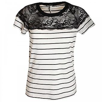 Oui Lace Short Sleeves Top