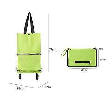 Uusi kannettava vaunu laukku taittuvat vanhukset supermarket vaunu käsin vedetty ostos pyörä laukut ES9201
