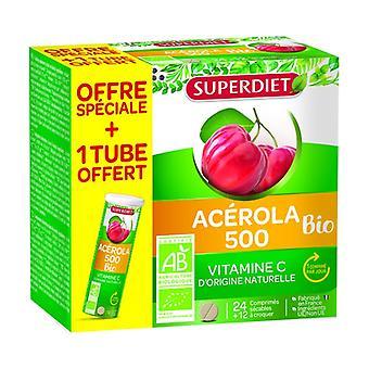 Acerola 500 Bio +1 free tube 36 tablets