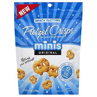 Snack Factory Pretzel Crisp Mini Orgnl, etui på 12 X 6,2 Oz