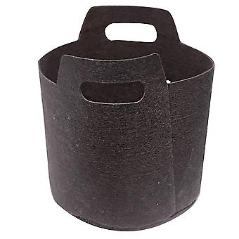 Black 20*20cm small non-woven planting bag with ear lifting homi3135