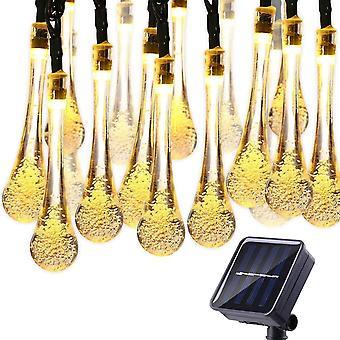 Led Advanced Water Drop Solar Fairy String Lights Outdoor Waterproof