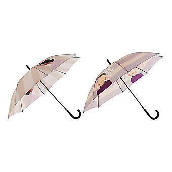 Regenschirm DKD Home Decor Beige Polyester Edelstahl Lila (2 Stück)