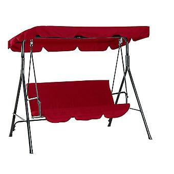 Patio imperméable à l'eau Swing Canopy Cover Set (Rouge)