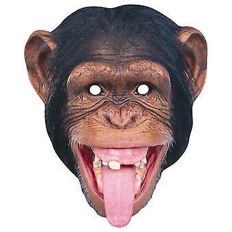 Chimpanzee 2D Animal Single Card Party Mask