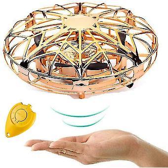 Käsikäyttöiset droonit lapsille, Mini Ufo Lentävä pallo lelu (kulta)