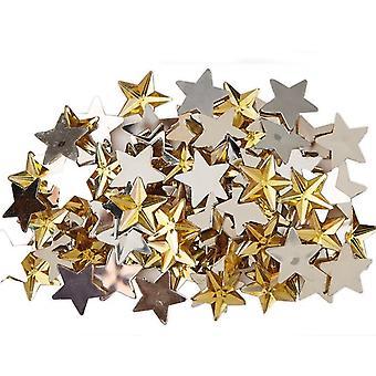 100 Gold Star 14mm Gem Stones for Crafts Diamante Gemstones Embellishments