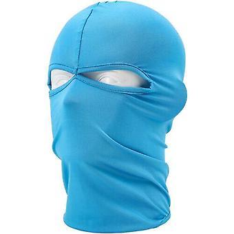 (Himmelblau) Sturmhaube Helm Winter Sas Style Army Winddichter Hals Warm Vollgesichtsmaske