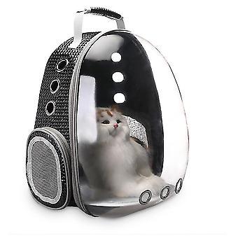 Bolla porta zaino portatile per animali domestici/ gatti / cani / cuccioli, nuovo design della capsula spaziale a 360 gradi