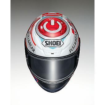 Shoei NXR Marquez Power up Motorcykel Hjälm Vit/Blå/Röd