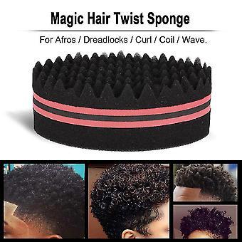 1pc ovale borstel voor Afros Dreadlocks Curl Coil Wave dubbelzijdige haar twist spons magie