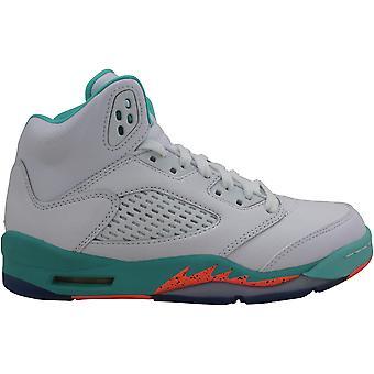 Nike Air Jordan V 5 Retro Valkoinen/Crimson Pulse-Light Aqua 440892-100 Ala-aste