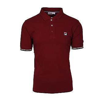 Fila Vintage Fila Wade Polo Shirt Rhubarb