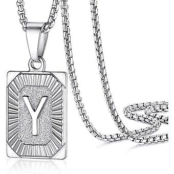 """925 Silve Initial Alphabate """"Y""""Letter Necklace - 20 inch"""
