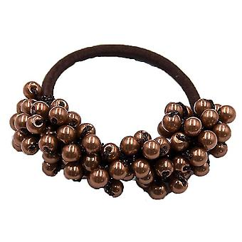 Woman Elegant Pearl Hair Ties Beads Scrunchies Rubber Bands Ponytail Holder