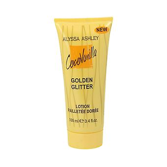 Mousserande glamour kroppskräm Coco Vanilla Golden Gliter Alyssa Ashley (100 ml)