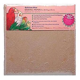 "Penn Plax Calcium Plus Gruspapper för burfåglar - 15,5 "" x 15,5 "" - 7 Pack"