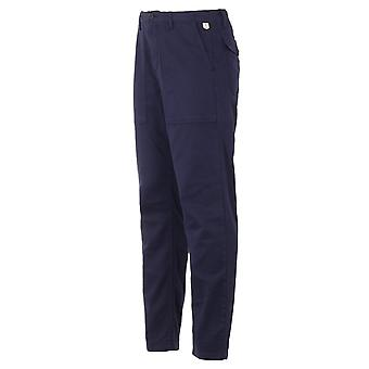 Armour Lux Carrot Stretch Cotton Trousers - Navy