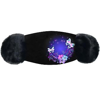 Earmuffs women outdoor riding butterfly earmuffs with mouth cover