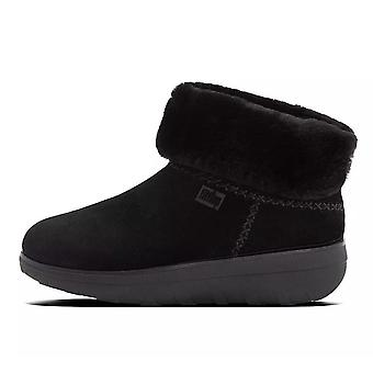 FitFlop Mukluk Shorty Iii Shearling-lined Suede Ankle Boots In Black