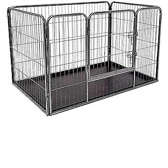 Heavy Duty Dog  Metal Playpen With Removable Plastic Floor