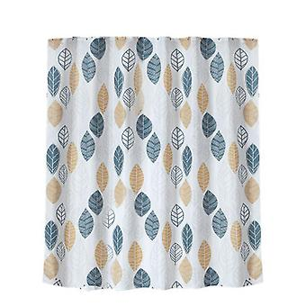 Waterproof Thick Polyester Shower Curtain Polyester Fabric Waterproof