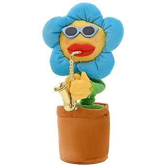 Swotgdoby Glowing & Twisting Sunflower With Saxophone, Electric Toy