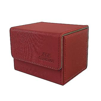 Card games premium 100+ card box for trading card game storage tcg  yugioh  pokemon cards red
