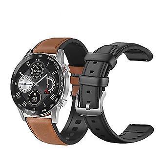 Slim horloge met fitnesstracker voor mannen met bluetooth bellen, klok voor android apple xiaomi